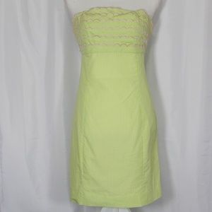 Lilly Pulitzer Strapless Tie Back Dress Size 4